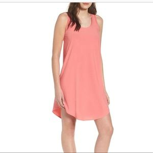 NWOT Nordstrom Leith Racerback Tank Dress Coral XS